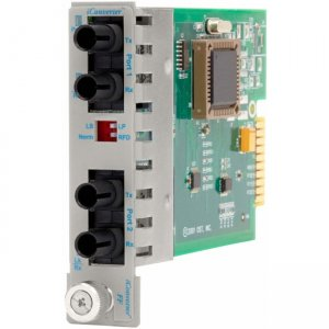 Omnitron Systems 8620-51 iConverter 100FF ST Multimode 5km to ST Single-Mode 30km Plug-in Module 8620-51-x