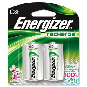 Energizer EVENH35BP2 NiMH Rechargeable Batteries, C, 2 Batteries/Pack NH35BP-2