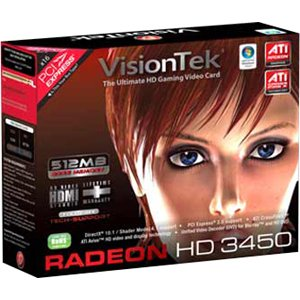 Visiontek 900302 Radeon HD 3450 Graphics Card