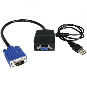StarTech.com ST122LE 2 Port VGA Video Splitter - USB Powered