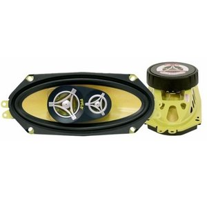 Pyle PLG41.3 4'' x 10'' 300 Watt Three-Way Speakers (Pair)