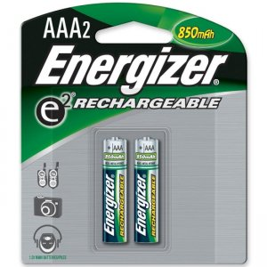 Energizer NH12BP-2 AAA Rechargeable Nickel Metal Hydride Battery