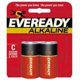 Eveready A93BP-2 C Alkaline General Purpose Battery