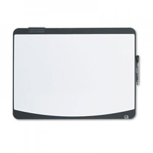 Quartet 06355BK Tack & Write Board, 23 1/2 x 17 1/2, Black/White Surface, Black Frame QRT06355BK