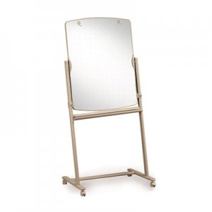 Quartet 300TE Total Erase Reversible Mobile Easel, 31 x 41, White Surface, Neutral Frame QRT300TE