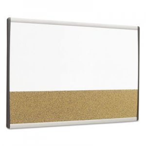 Quartet ARCCB3018 Magnetic Dry-Erase/Cork Board, 18 x 30, White Surface, Silver Aluminum Frame QRTARCCB3018