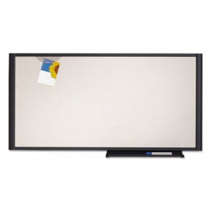 Quartet QRTWM3618 Prestige Cubicle Total Erase Whiteboard, 36 x 18, White Surface, Graphite Frame
