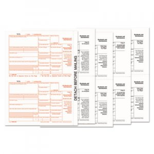 TOPS TOP22973 1099-Div Tax Forms, 5-Part, 5 1/2 X 8, Inkjet/laser, 48 1099s & 1 1096