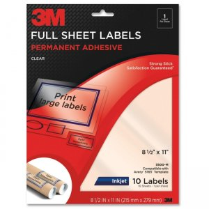 3M 3500-M Full Sheet Address Label MMM3500M