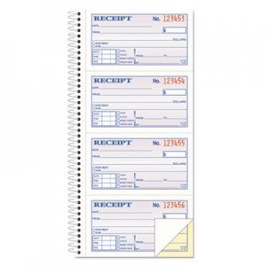 Adams SC1152 Two-Part Rent Receipt Book, 2 3/4 x 4 3/4, Carbonless, 200 Forms ABFSC1152