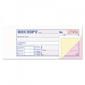 Adams TC2701 Receipt Book, 2 3/4 x 7 3/16, Three-Part Carbonless, 50 Forms ABFTC2701