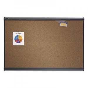Quartet B247G Prestige Bulletin Board, Brown Graphite-Blend Surface, 72x48, Gry Aluminum Frame QRTB247G