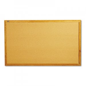 Quartet 305 Classic Cork Bulletin Board, 60 x 34, Oak Finish Frame QRT305