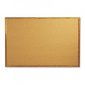 Quartet 307 Classic Cork Bulletin Board, 72 x 48, Oak Finish Frame QRT307