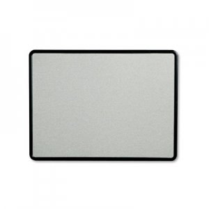 Quartet 7694G Contour Fabric Bulletin Board, 48 x 36, Gray Surface, Black Plastic Frame QRT7694G