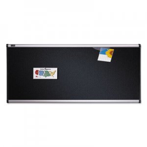 Quartet B344A Embossed Bulletin Board, Hi-Density Foam, 48 x 36, Black, Aluminum Frame QRTB344A