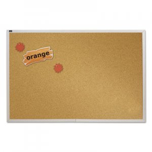 Quartet ECKA406 Natural Cork Bulletin Board, 72 x 48, Anodized Aluminum Frame QRTECKA406