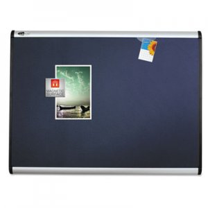 Quartet MB543A Prestige Plus Magnetic Fabric Bulletin Board, 36 x 24, Aluminum Frame QRTMB543A