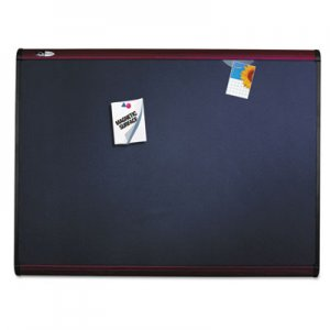 Quartet MB547M Prestige Plus Magnetic Fabric Bulletin Board, 72 x 48, Mahogany Frame QRTMB547M