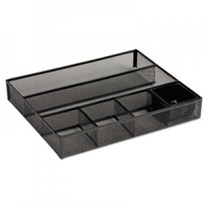 Rolodex ROL22131 Deep Desk Drawer Organizer, Metal Mesh, Black
