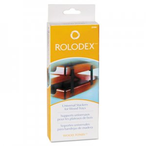 Rolodex 23386 Wood Tones Letter/Legal Desk Tray Stackers, 4 Tier, Metal, Black ROL23386