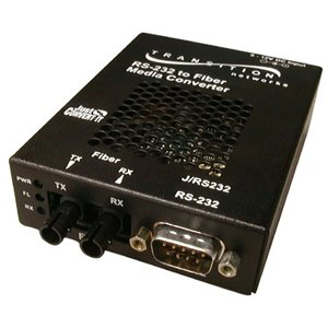Transition Networks J/RS232-TF-01(SC)-NA Just Convert-IT RS232 Copper to Fiber Stand-Alone Media Converter