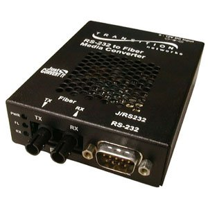Transition Networks J/RS232-CF-01-NA Just Convert-IT RS232 Copper to Fiber Stand-Alone Media Converter