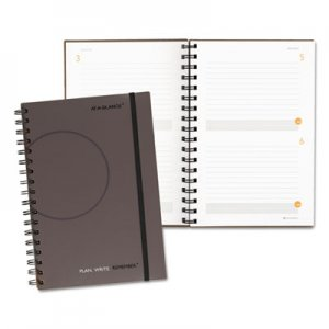At-A-Glance 80620330 Plan. Write. Remember. Planning Notebook Two Days Per Page, 6 x 9, Gray AAG80620330