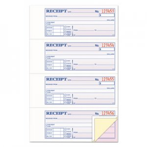 Adams TC1182 Receipt Book, 7 5/8 x 11, Three-Part Carbonless, 100 Forms ABFTC1182
