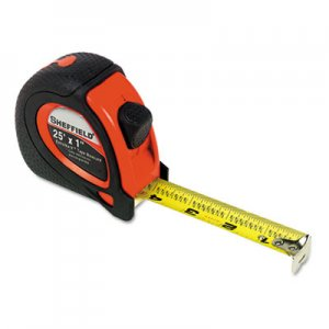"Great Neck GNS58652 Sheffield ExtraMark Tape Measure, Red with Black Rubber Grip, 1"" x 25 ft"
