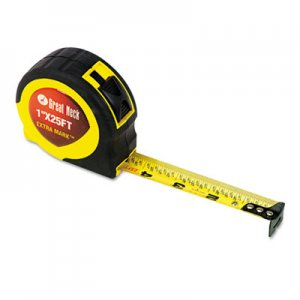 "Great Neck 95005 ExtraMark Power Tape, 1"" x 25ft, Steel, Yellow/Black GNS95005"