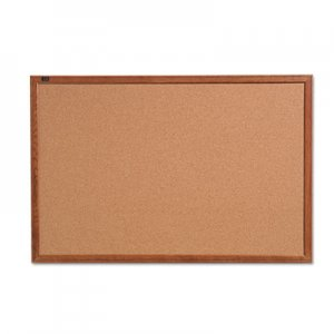 Quartet QRT85223 Cork Bulletin Board, 36 x 24, Oak Finish Frame