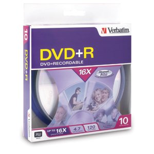 Verbatim 95032 DVD+R 4.7GB 16x 10pk Spindle Box