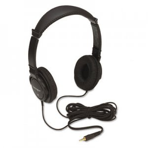 Kensington 33137 Hi-Fi Headphones, Plush Sealed Earpads, Black KMW33137