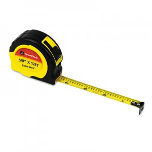 "Great Neck GNS95007 ExtraMark Power Tape, 5/8"" x 12ft, Steel, Yellow/Black"
