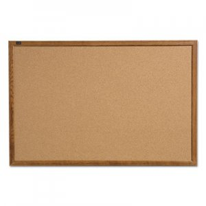 Quartet QRT85212 Cork Bulletin Board, 17 x 23, Oak Finish Frame