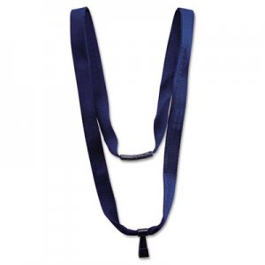 "Advantus AVT75575 Earth-Friendly Lanyard, J-Hook Style, 36"" Long, Blue, 10/Pack"