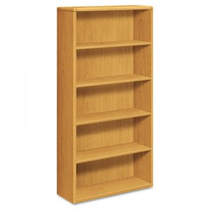 HON HON10755CC 10700 Series Wood Bookcase, Five Shelf, 36w x 13 1/8d x 71h, Harvest