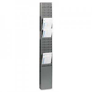"SteelMaster MMF270R1TCRGY Steel Time Card Rack with Fixed 4-1/2"" x 5"" Pockets"