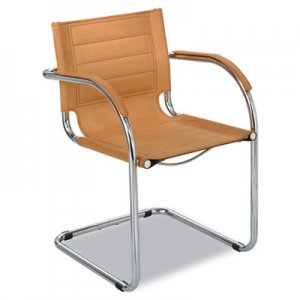 "Safco SAF3457CM Flaunt Series Guest Chair, 21.5"" x 23"" x 31.75"", Camel Seat/Camel Back, Chrome Base"