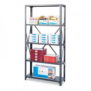 Safco 6266 Commercial Steel Shelving Unit, Five-Shelf, 36w x 18d x 75h, Dark Gray SAF6266