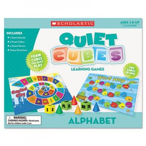 Scholastic 0545119324 Alphabet Quiet Cubes, Pre-K-2, with Activity Guide SHS0545119324 00078073119325