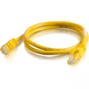 C2G 27871 3 ft Cat6 Snagless Crossover UTP Unshielded Network Patch Cable - Yellow