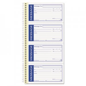Adams SC1153WS Write 'n Stick Phone Message Pad, 2 3/4 x 4 3/4, Two-Part Carbonless, 200 Forms