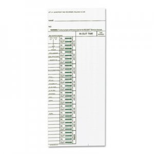 Acroprint ACP096103080 Time Card for Model ATT310 Electronic Totalizing Time Recorder, Weekly, 200/Pack 09-6103-080