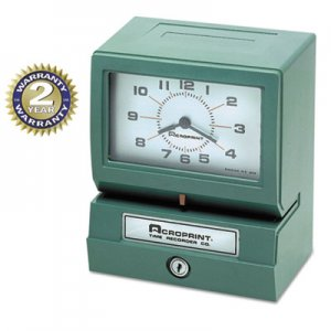 Acroprint ACP012070413 Model 150 Analog Automatic Print Time Clock with Month/Date/0-23 Hours/Minutes