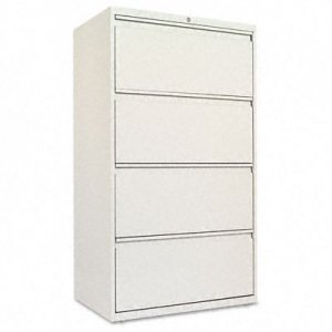 Alera LF3054LG Four-Drawer Lateral File Cabinet, 30w x 19-1/4d x 54h, Light Gray ALELF3054LG