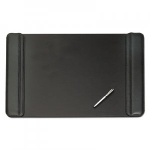 Artistic AOP513381 Sagamore Desk Pad w/Flip-Open Side Panels, 38 x 24, Black 5133-8-1