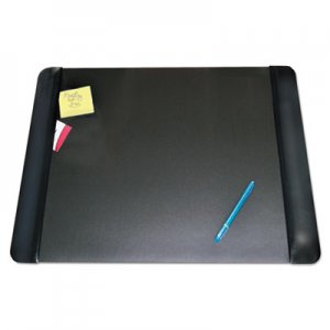 Artistic AOP413841 Executive Desk Pad with Leather-Like Side Panels, 24 x 19, Black