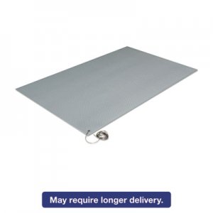 Crown ZC0025GY Antistatic Comfort-King Mat, Sponge, 24 x 60, Steel Gray CWNZC0025GY